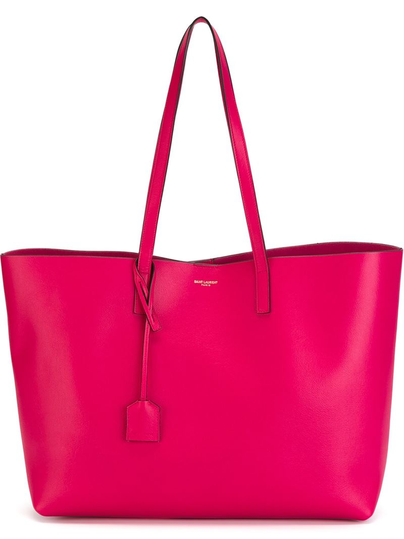 saint laurent classic shopper tote in pink lyst. Black Bedroom Furniture Sets. Home Design Ideas