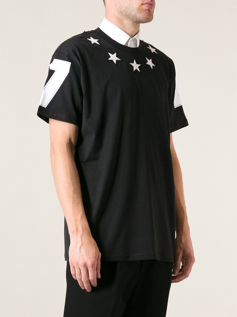 Lyst Givenchy Star Tshirt In Black For Men