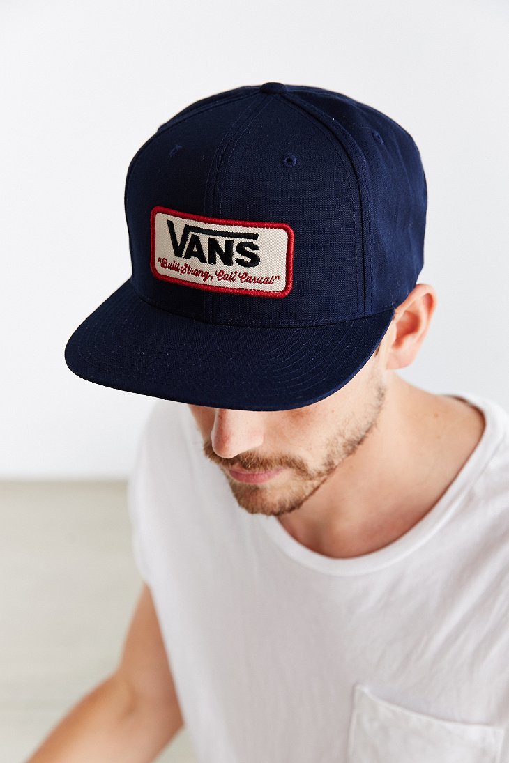 Lyst - Vans Rowley Snapback Hat in Blue for Men 4f5dc6de079f