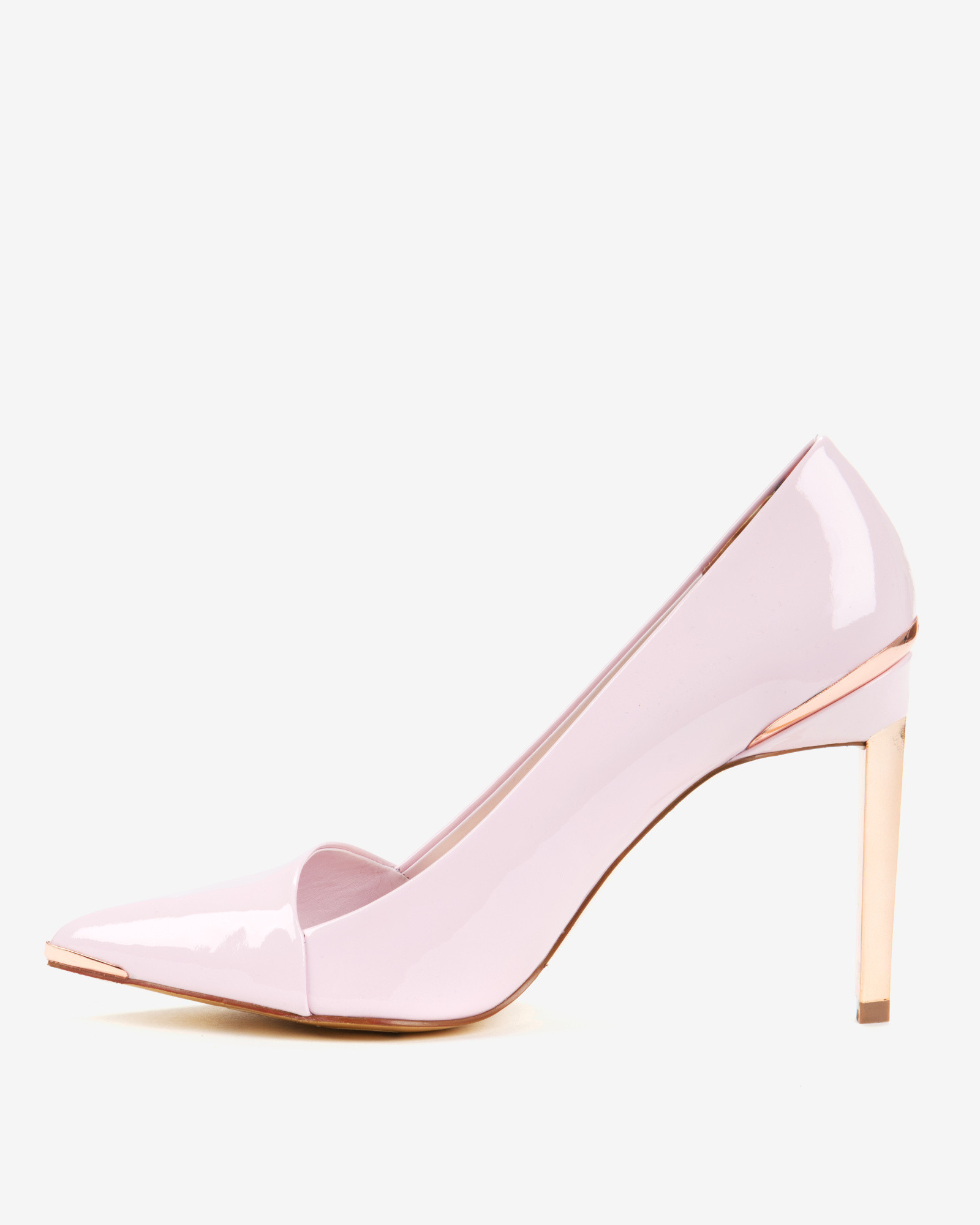 de06dafeceb Ted Baker Pink Pointed High Top Court Shoes