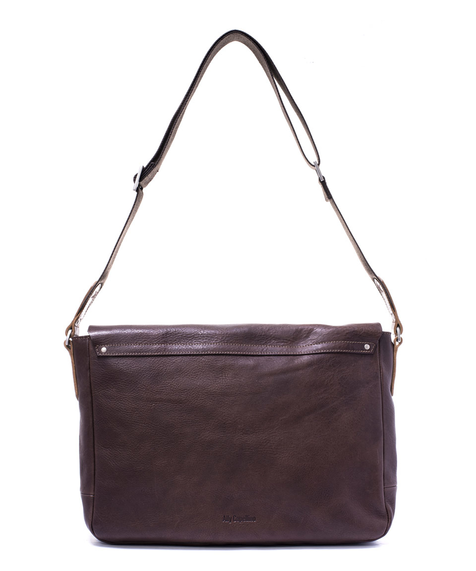 Ally Capellino Dark Brown Michael Leather Satchel In Brown