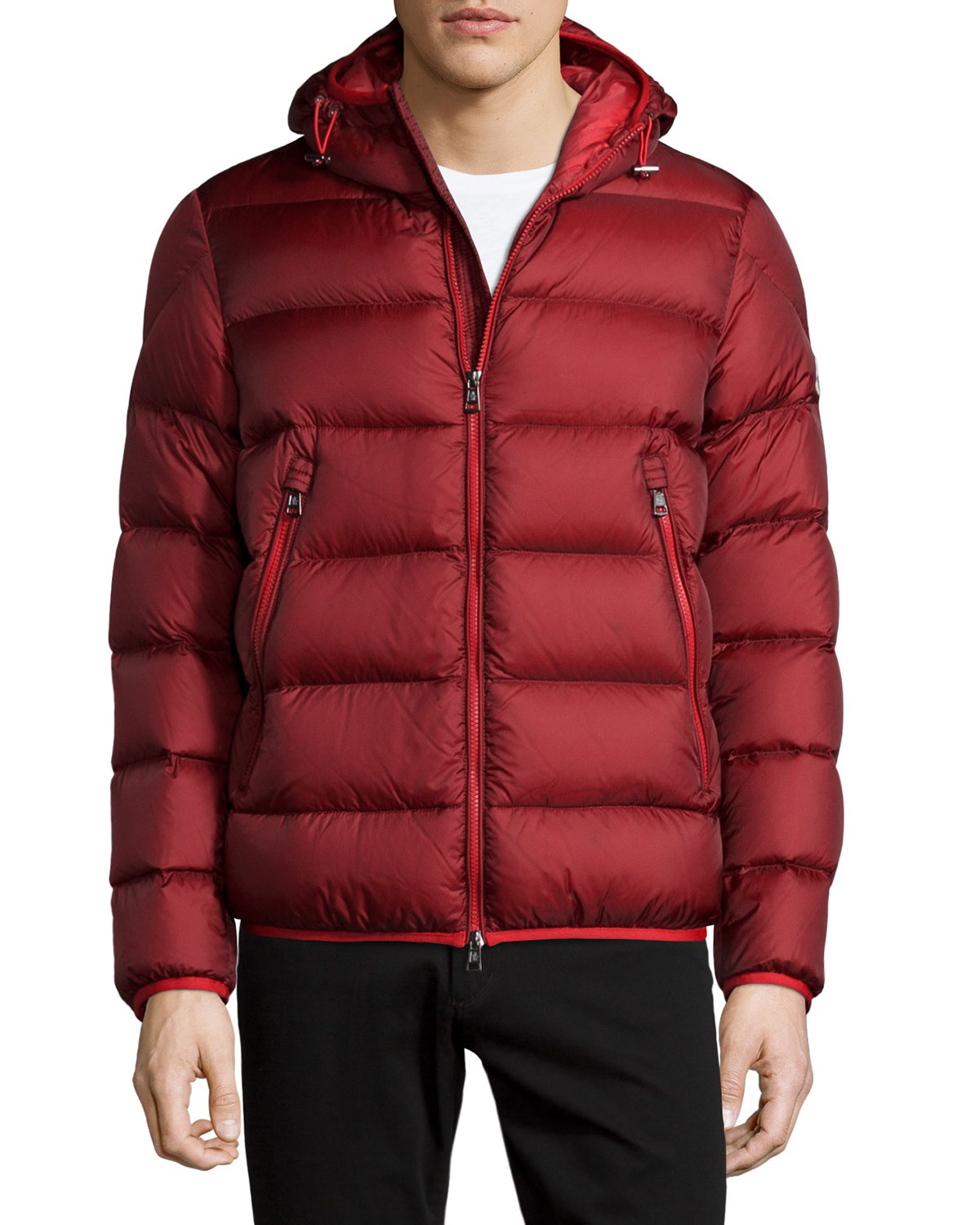 Lyst Moncler Chauvon Hooded Puffer Jacket In Purple For Men