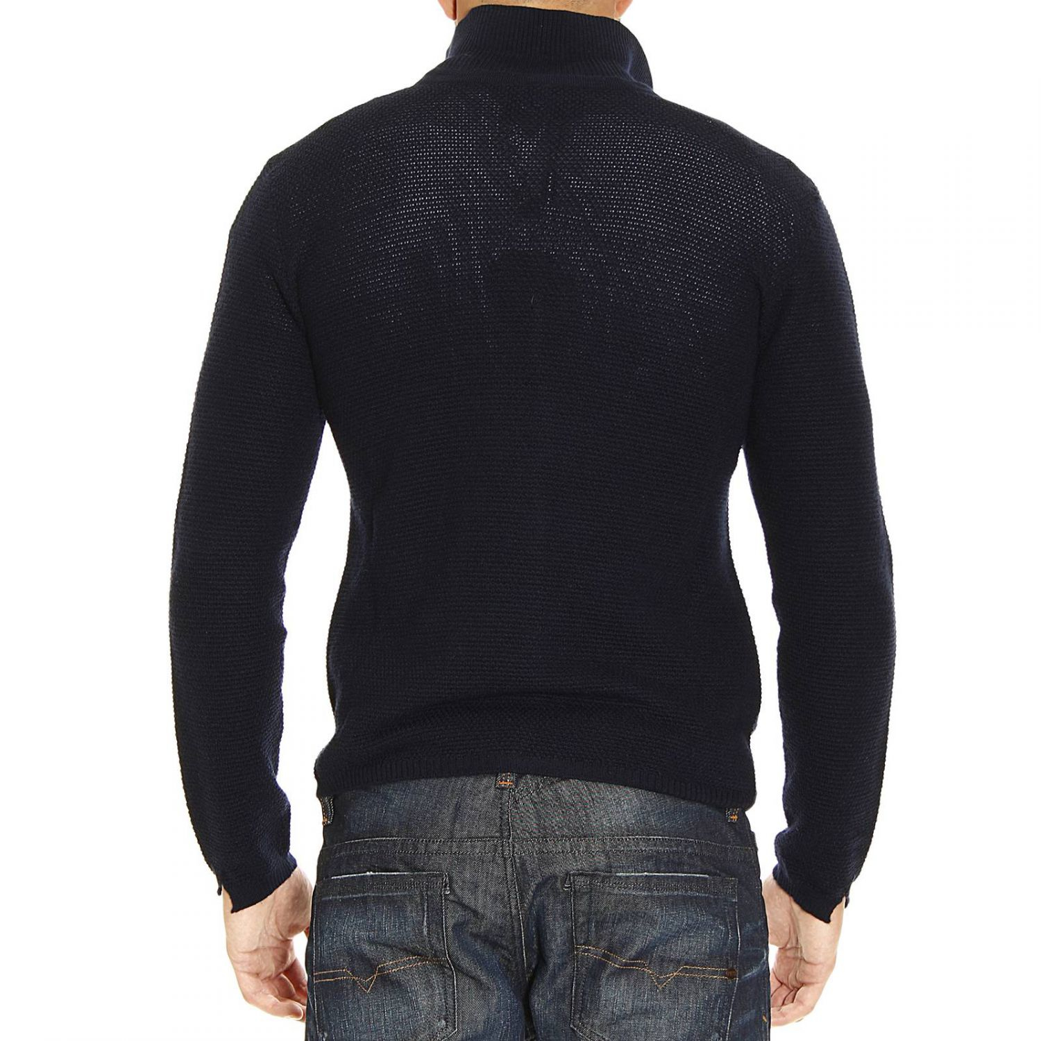 emporio armani sweater in blue for men lyst. Black Bedroom Furniture Sets. Home Design Ideas