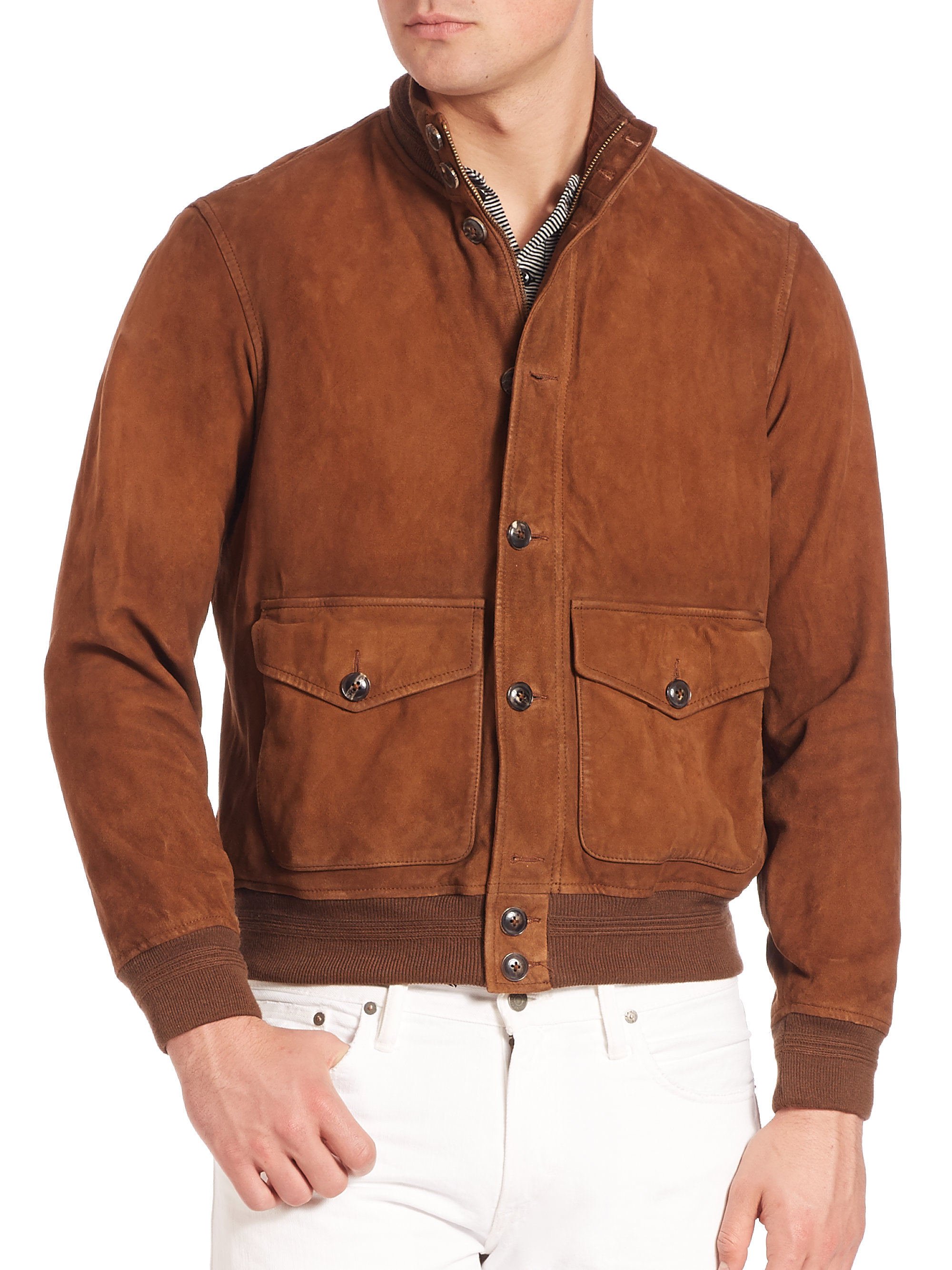 Suede Jacket Outfits For Men 20 Ways To Wear A Suede Jacket: Polo Ralph Lauren Suede Skeet Jacket In Brown For Men