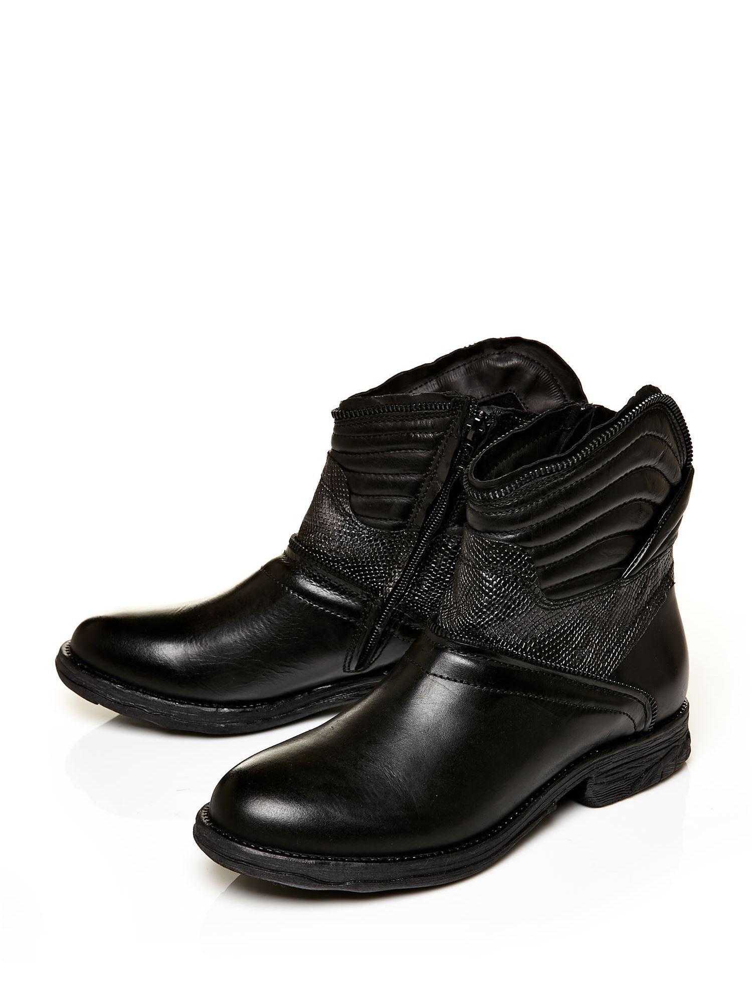 Moda In Pelle Ultima Casual Ankle Boots in Black