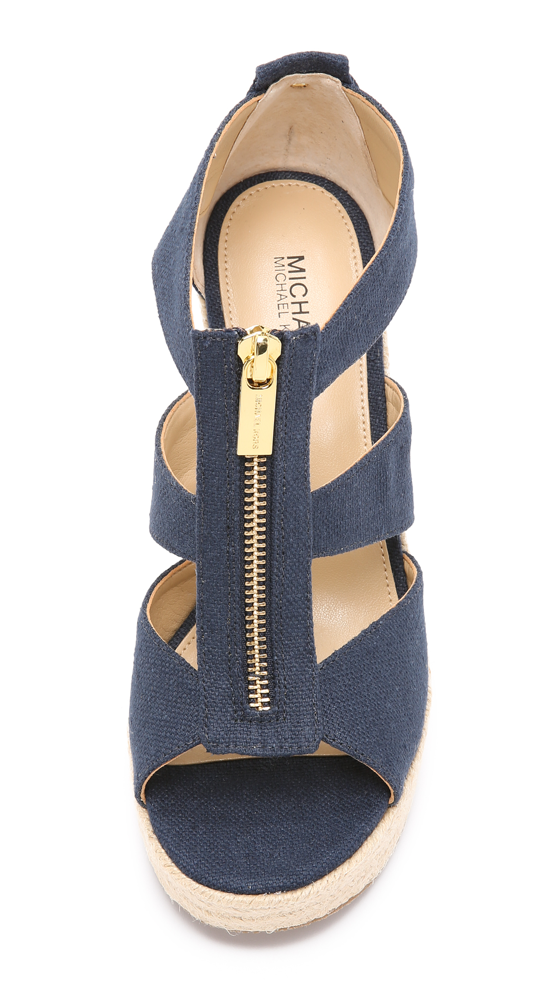 Lyst Michael Michael Kors Damita Wedge Sandals In Blue
