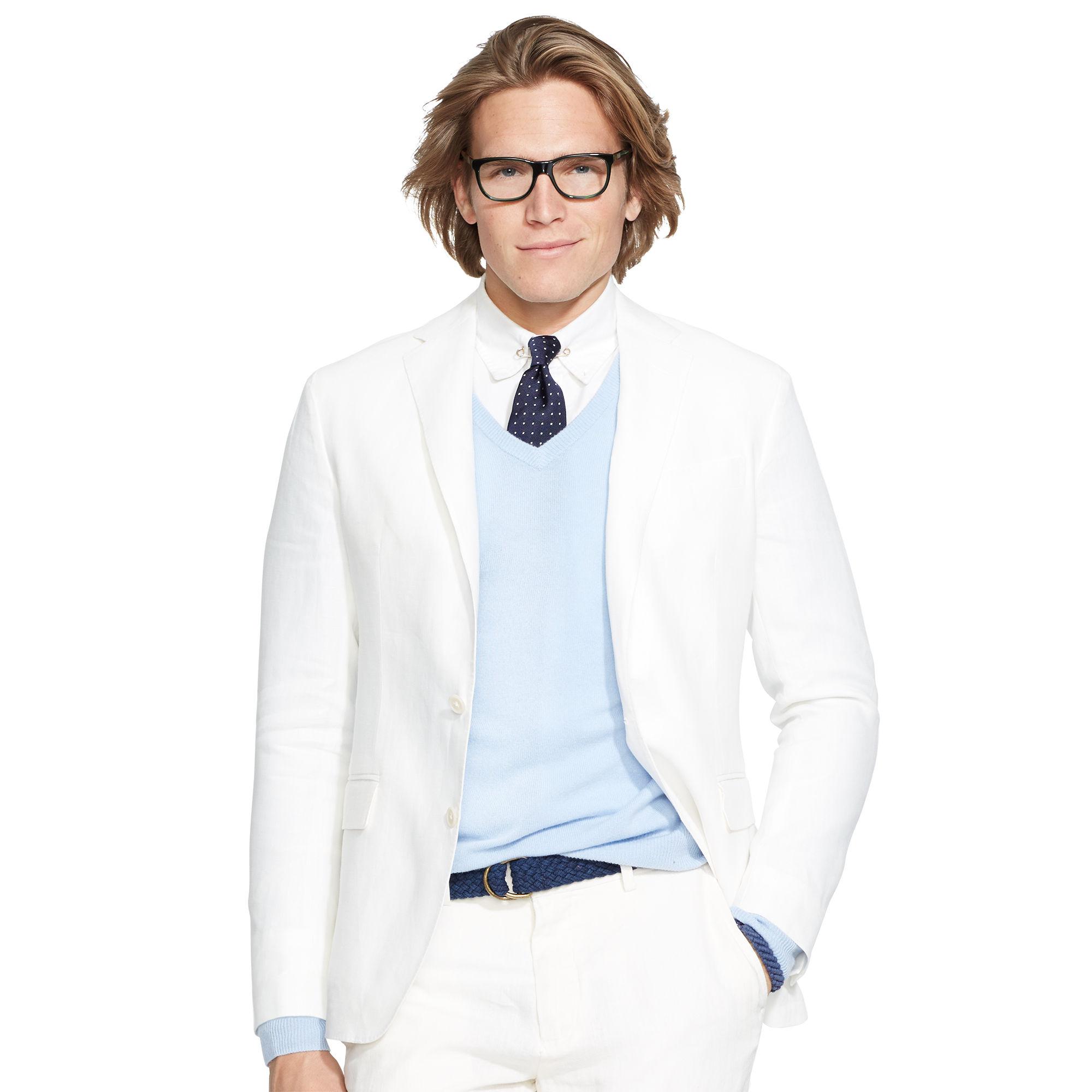 b1467f3720 Polo Ralph Lauren White Morgan Linen Sport Coat for men