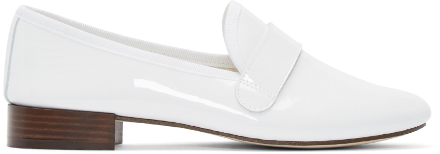 6f4d218d8f17f Repetto White Patent Leather Michael Loafers in White - Lyst
