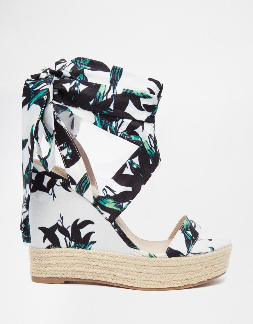 68d3599db8 ASOS Tornado Lace Up Wedges - Lyst