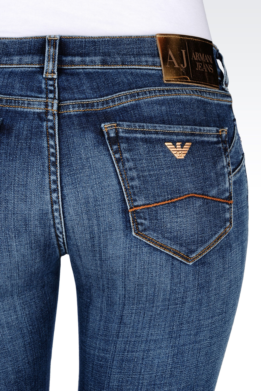 lyst armani jeans medium light wash used effect push up. Black Bedroom Furniture Sets. Home Design Ideas