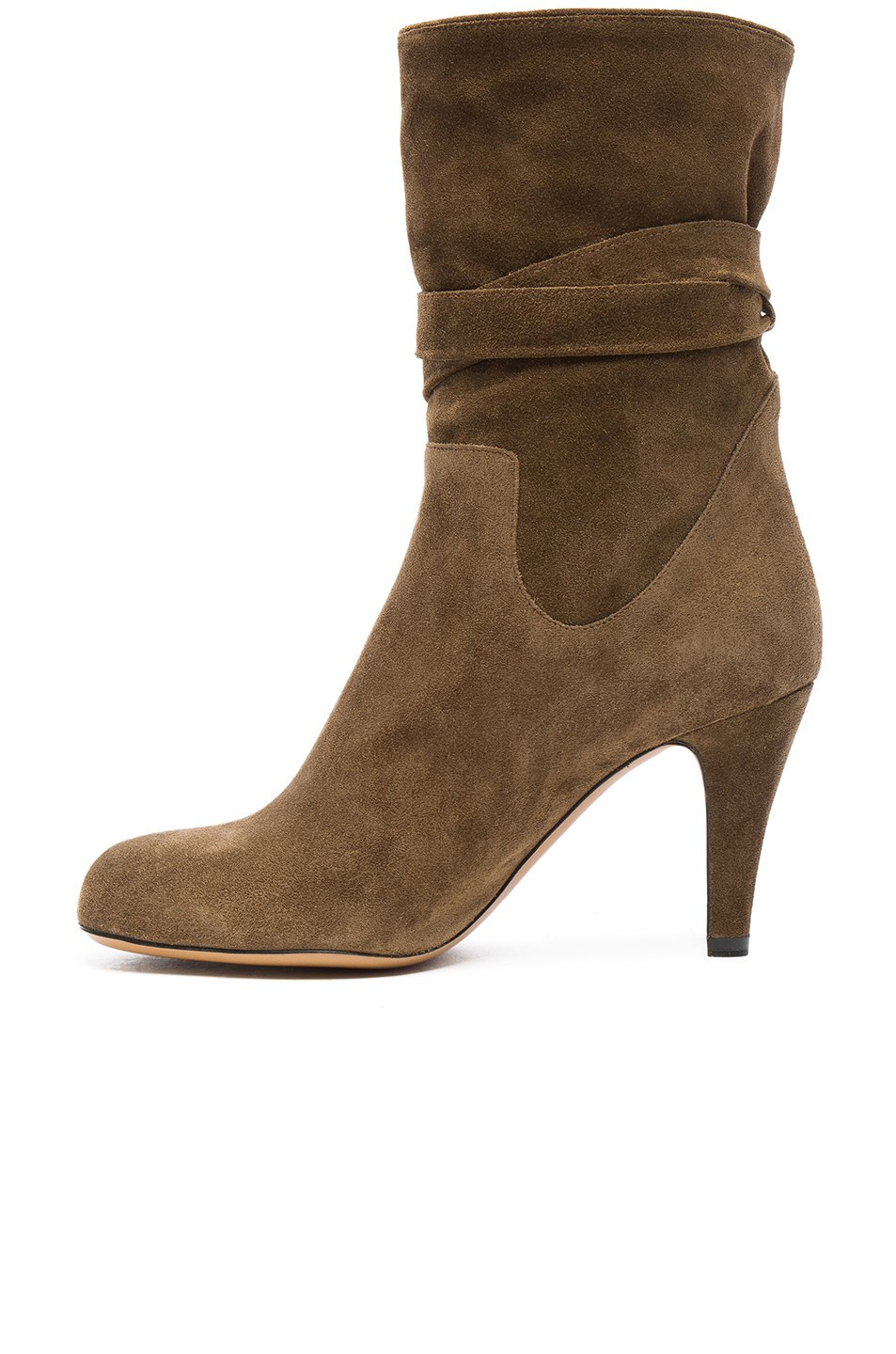 chlo 233 suede tassel boots in brown lyst