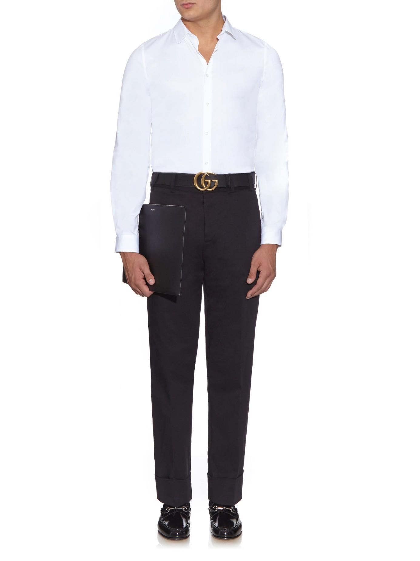 c5de88429b4b4 Gucci Gg-Logo Leather Belt in Black for Men - Lyst
