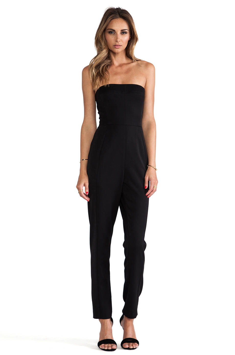 Luxury Black Halo Jumpsuit Iris Strapless For Women  Aoope
