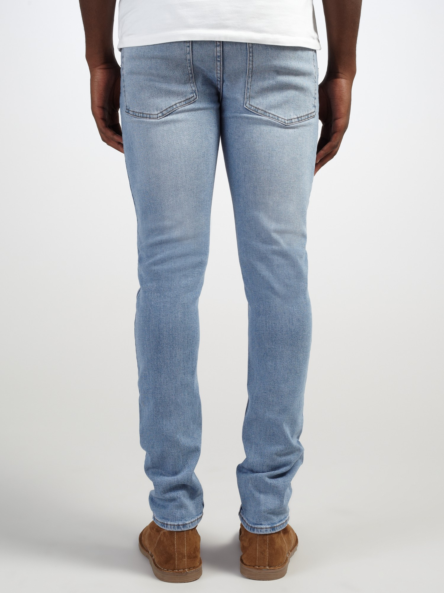 Cheap Monday Denim Tight Blue Wave Skinny Jeans for Men