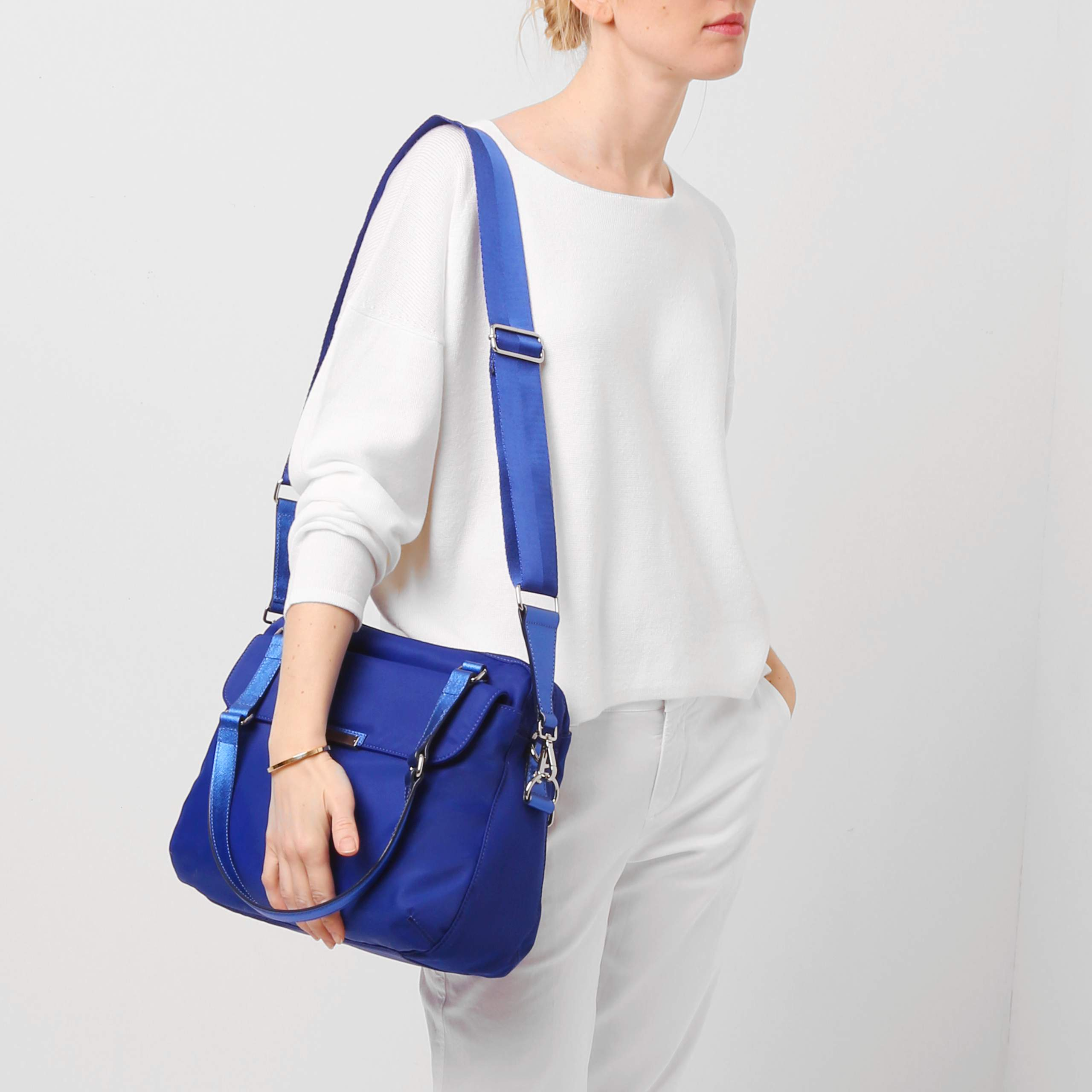 MZ Wallace Royal Bedford Coco Tote in Blue