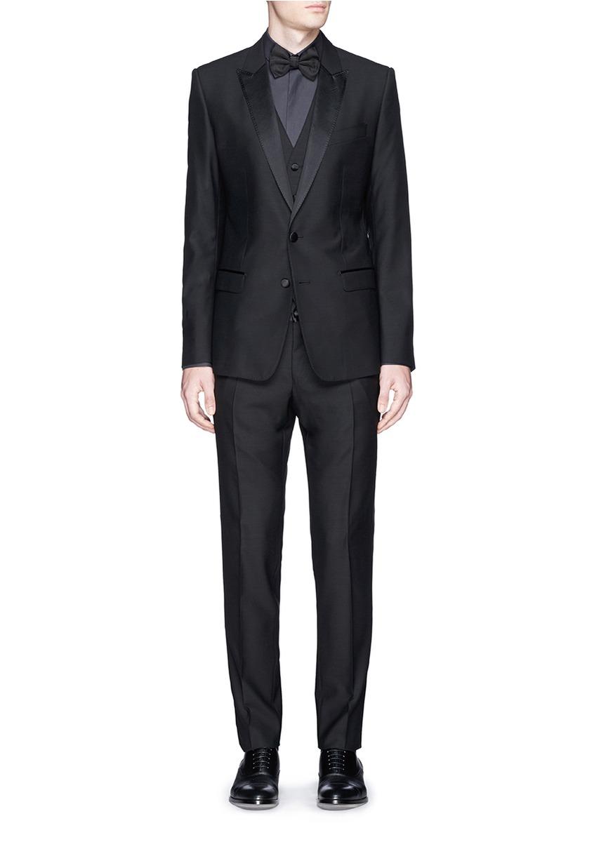 Dolce & Gabbana 'gold' Bib Tuxedo Shirt in Grey (Grey) for Men