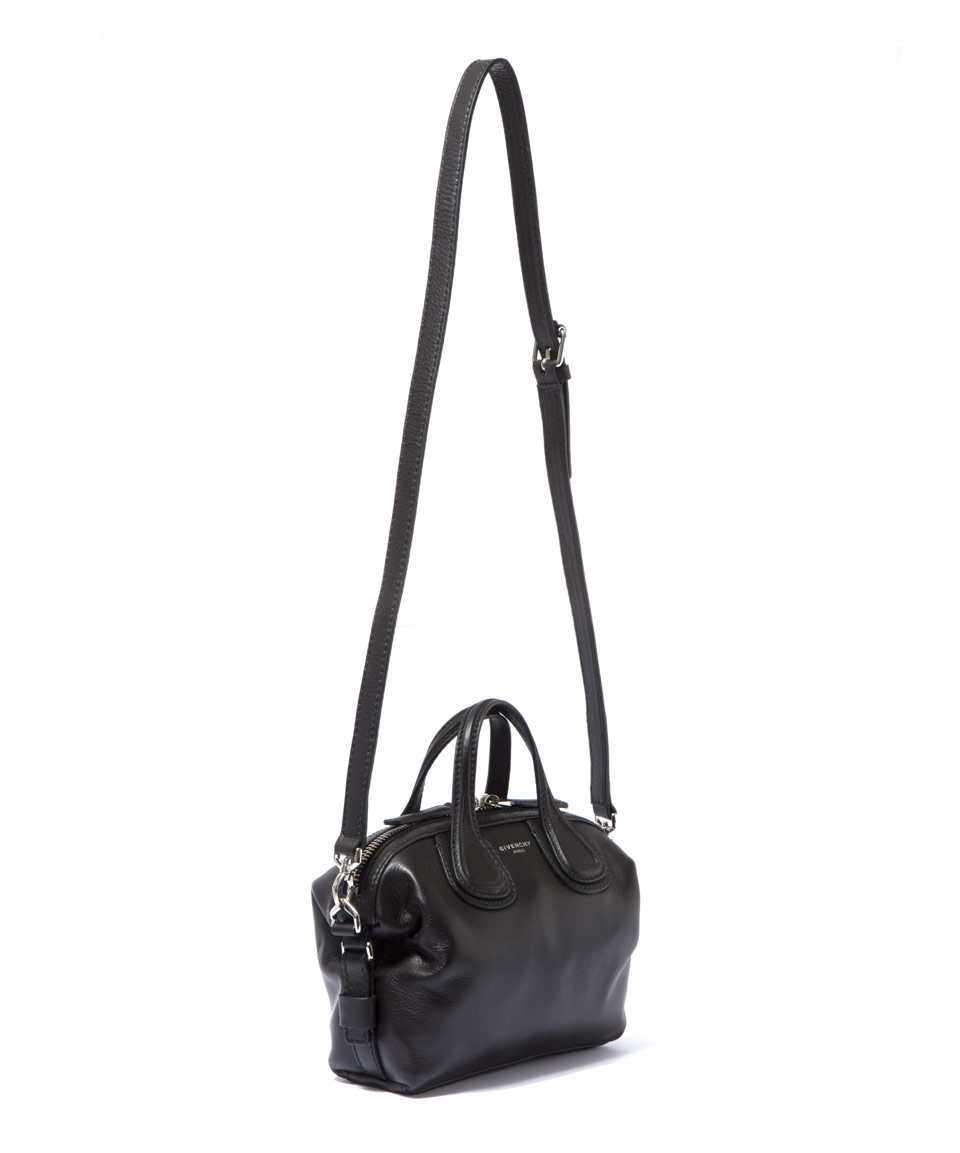 2ab1a76ed60a Givenchy Micro Black Nightingale Waxed Leather Bag in Black - Lyst