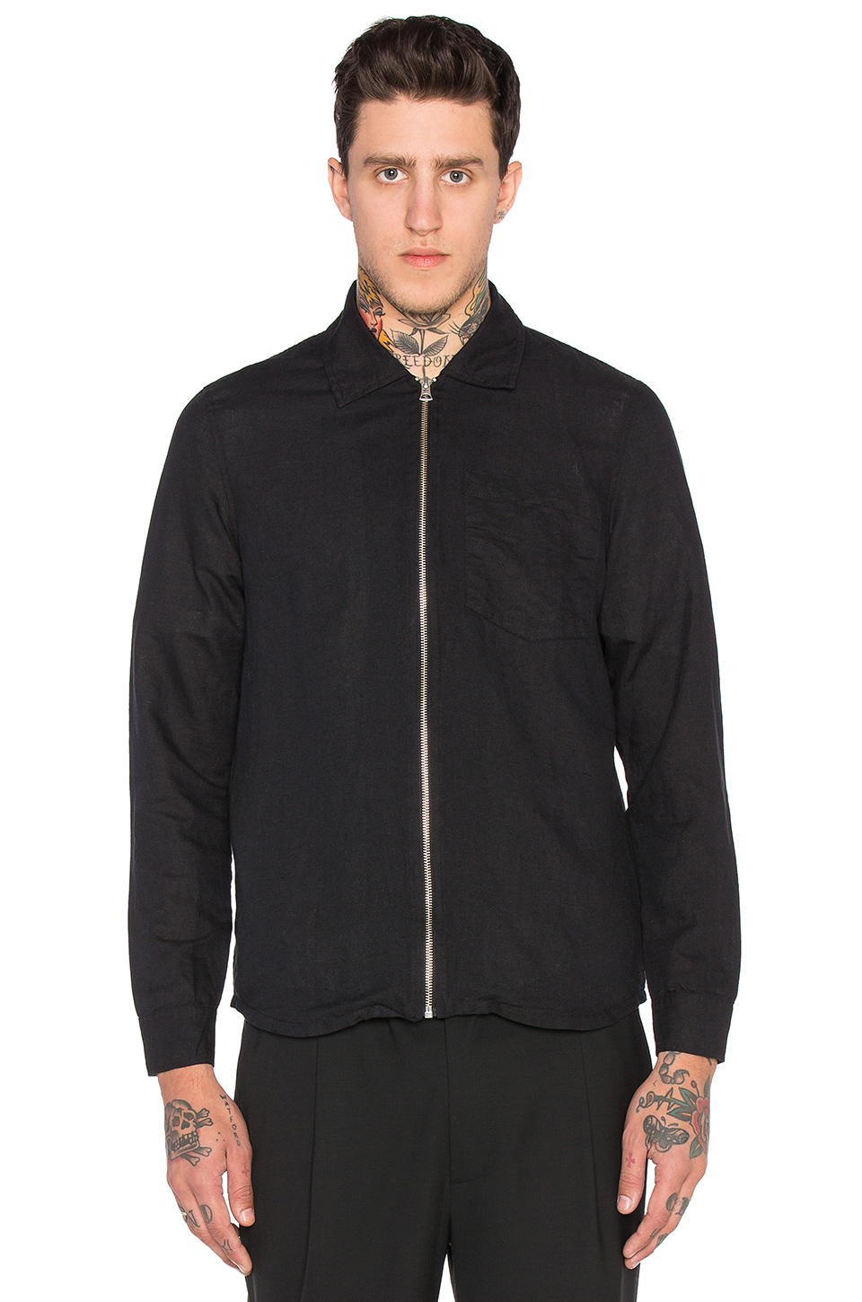 Our legacy Zip Shirt Jacket in Black for Men | Lyst