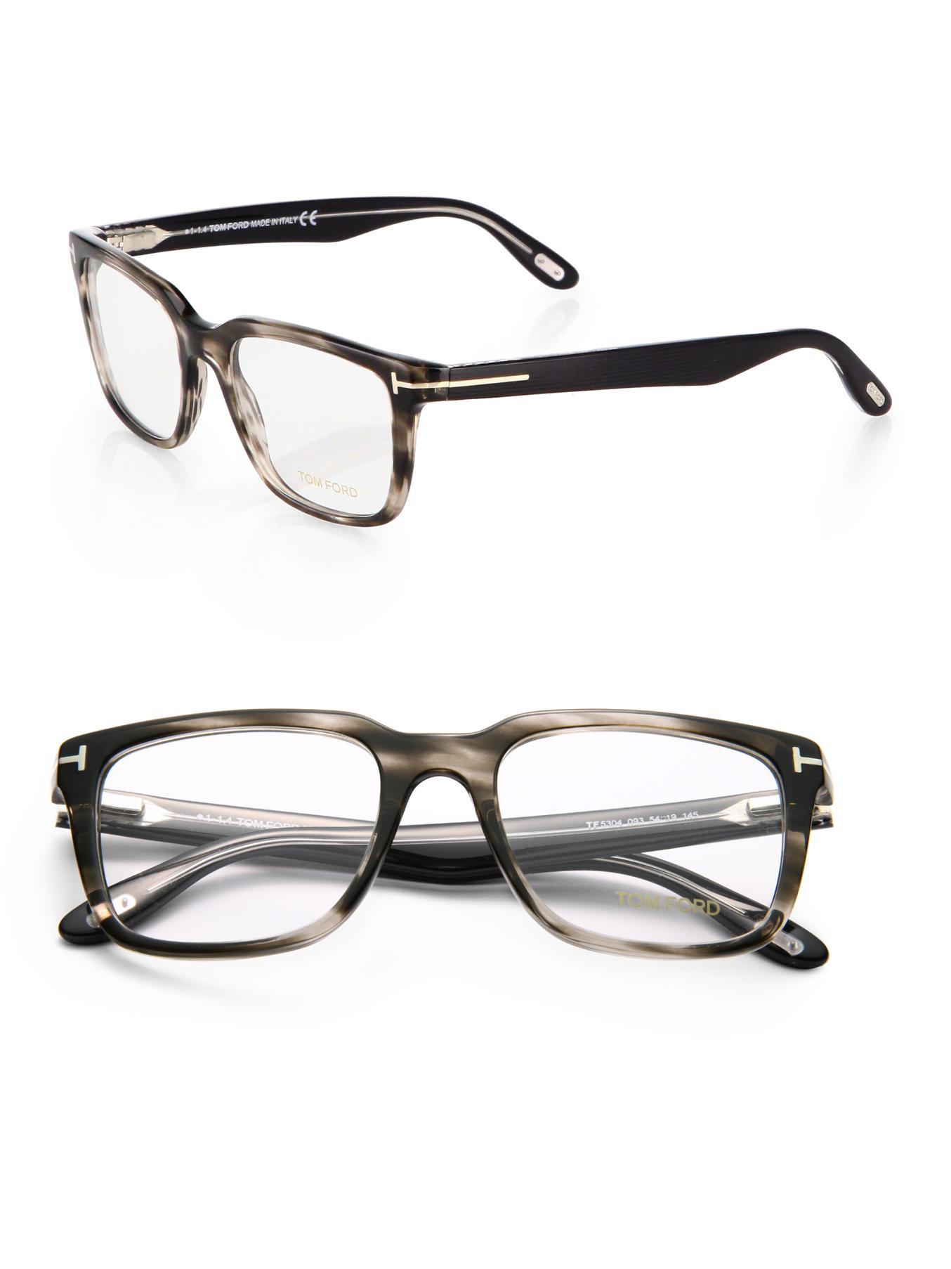 69f55fc25b Lyst - Tom Ford Square Optical Frames in Gray for Men