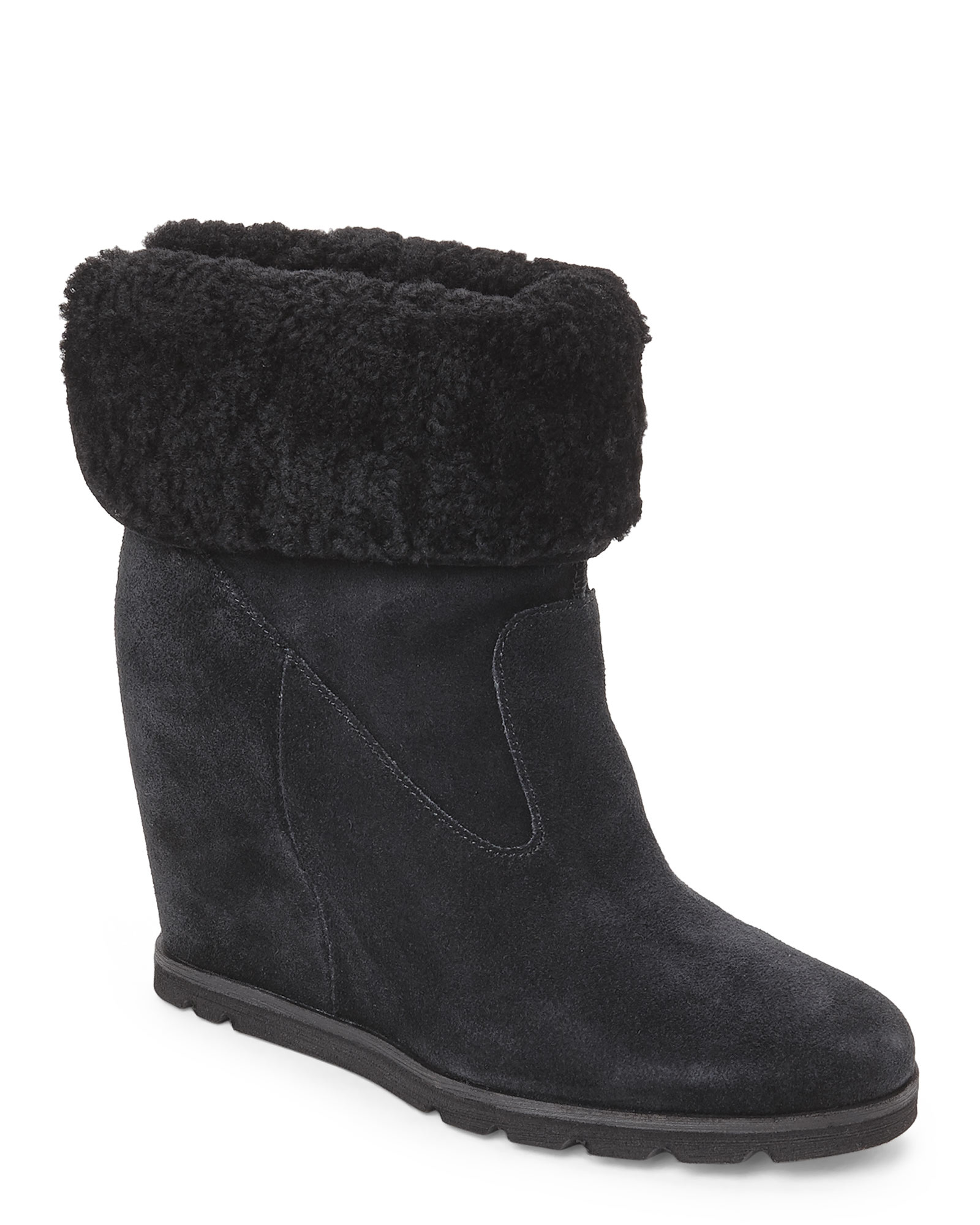 347e9129d6b UGG Black Kyra Wedge Boots