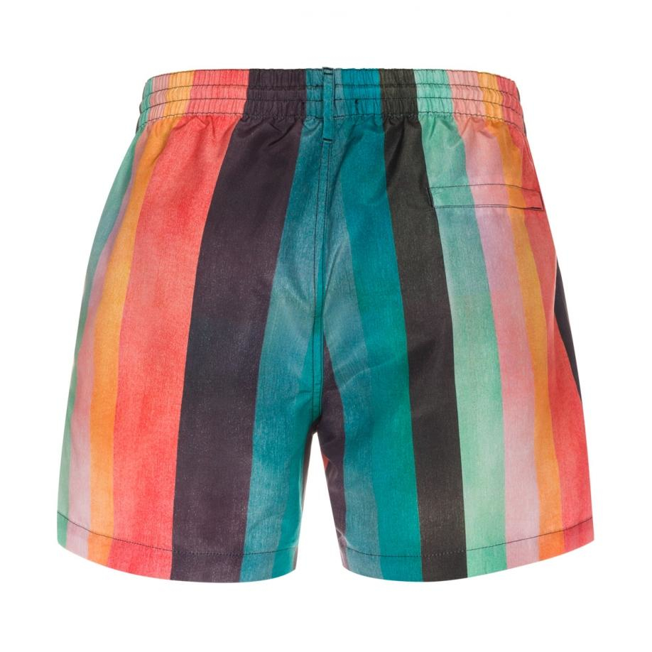 00f164d47d Paul Smith Men's 'artist Stripe' Print Swim Shorts for Men - Lyst