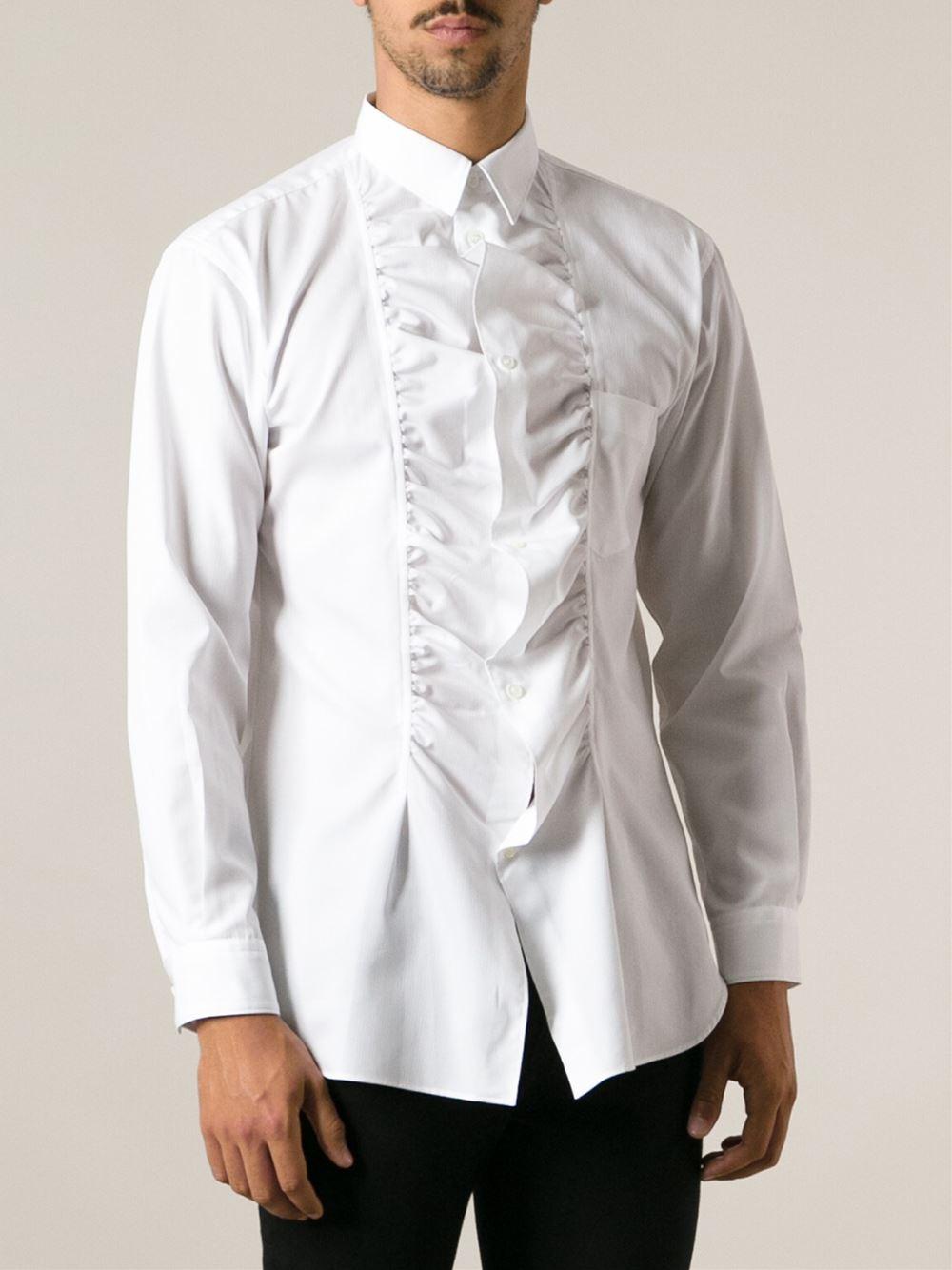ESCADA Ruffled Blouse in White - Lyst |Ruffle Shirt