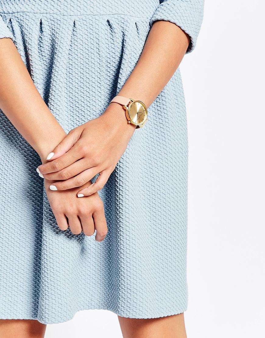 Olivia burton Big Dial Watch in Metallic