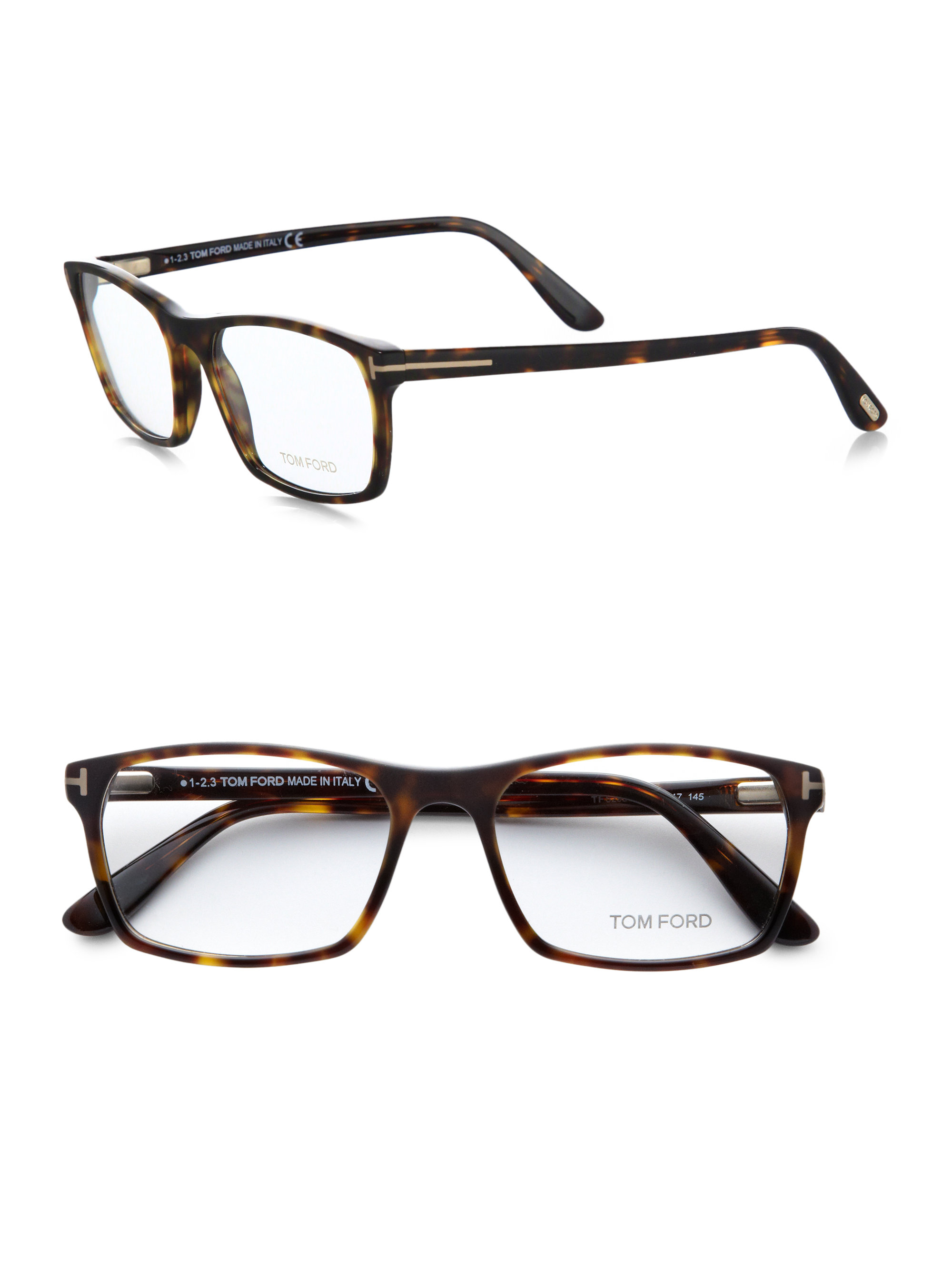 tom ford 5295 rectangular optical frames in brown for