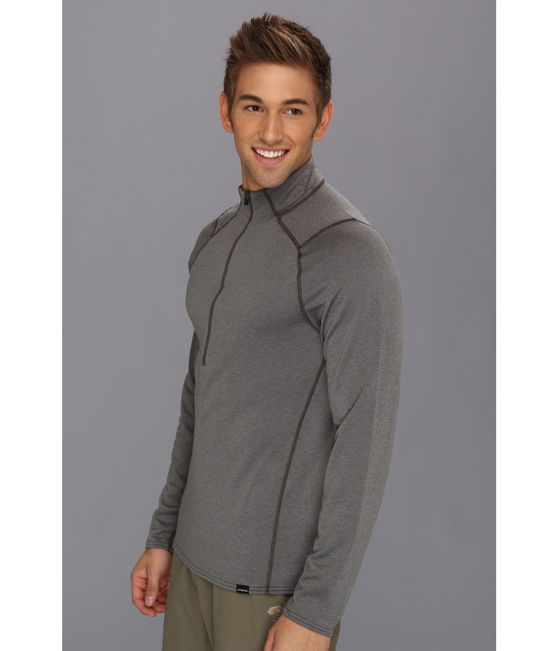 Patagonia Capilene 3 Midweight Zip Neck In Gray For Men Lyst