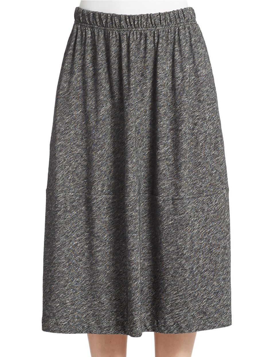 eileen fisher a line knit skirt in gray charcoal lyst