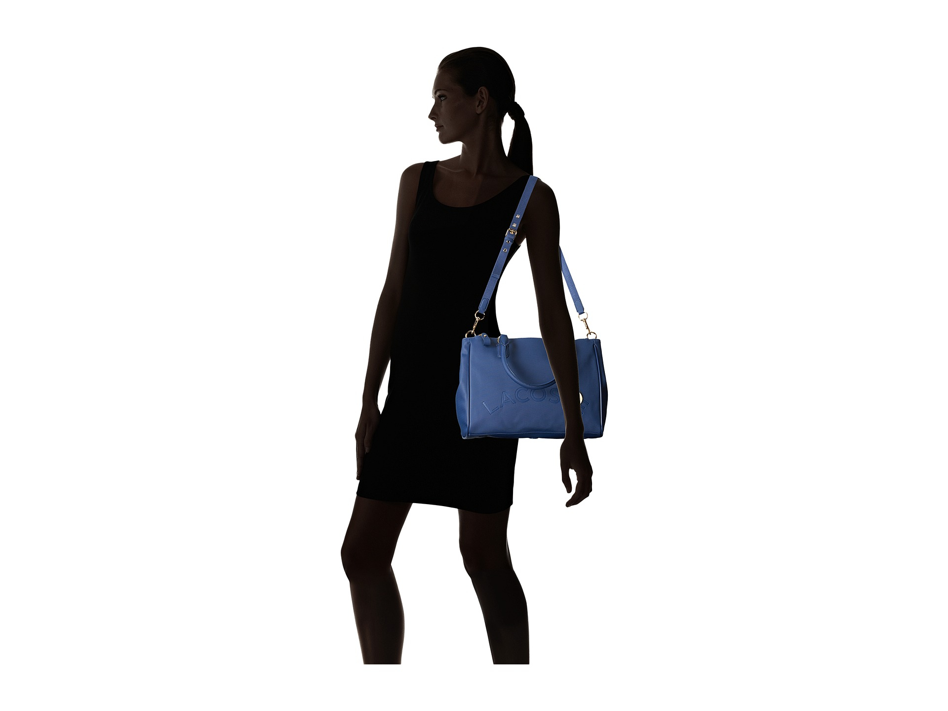 324c38e7d9 Lacoste Daily Classic Medium Double Zip Shopper in Blue - Lyst