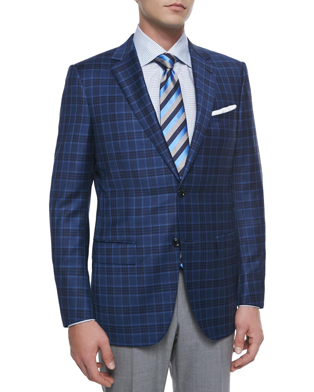 Ermenegildo zegna Plaid Two-button Sport Coat in Blue for ...