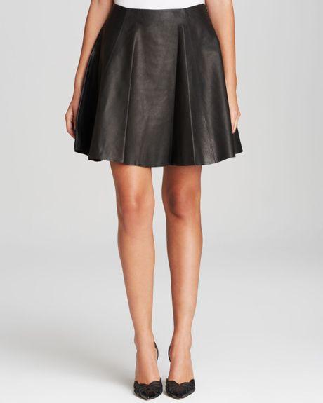kate spade leather mini skirt in black lyst