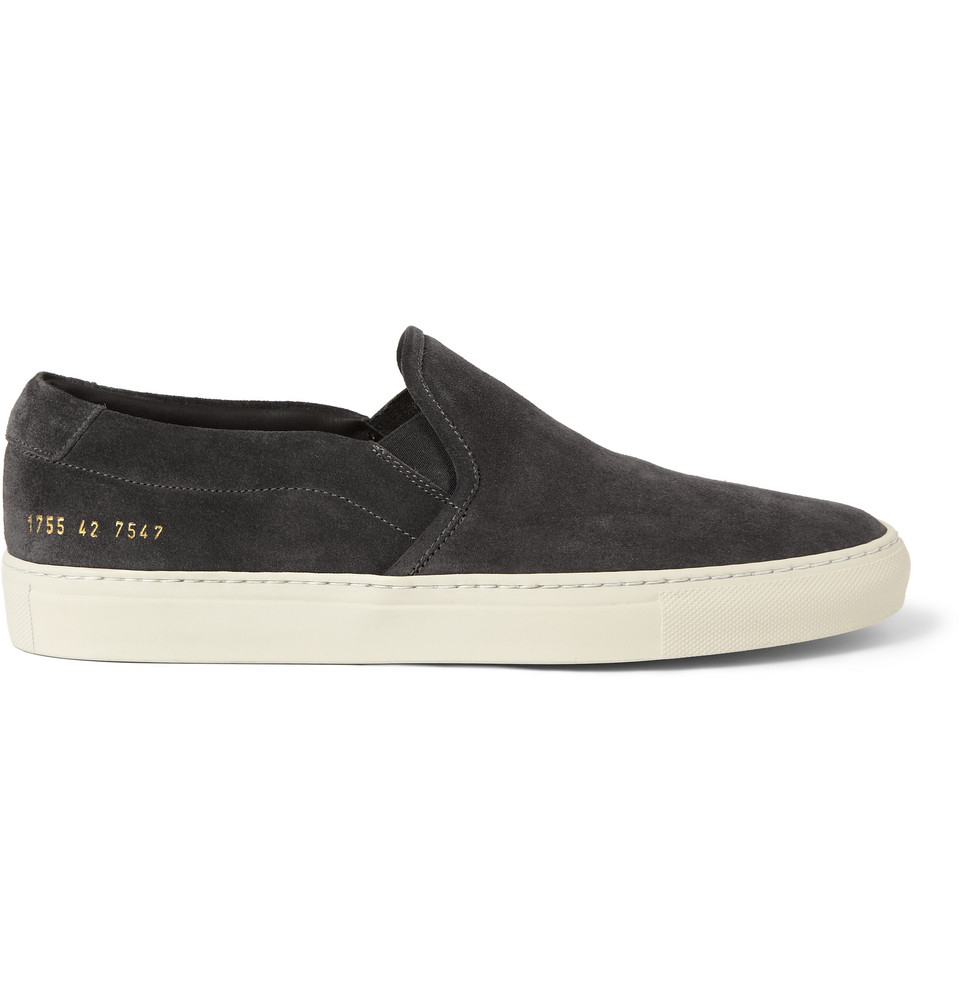Common Projects Grey Suede Slip-On Sneakers NnPmIHUYG