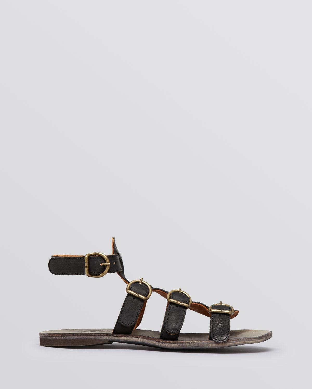 Lyst Fiorentini Baker Flat Gladiator Sandals Thea In Gray