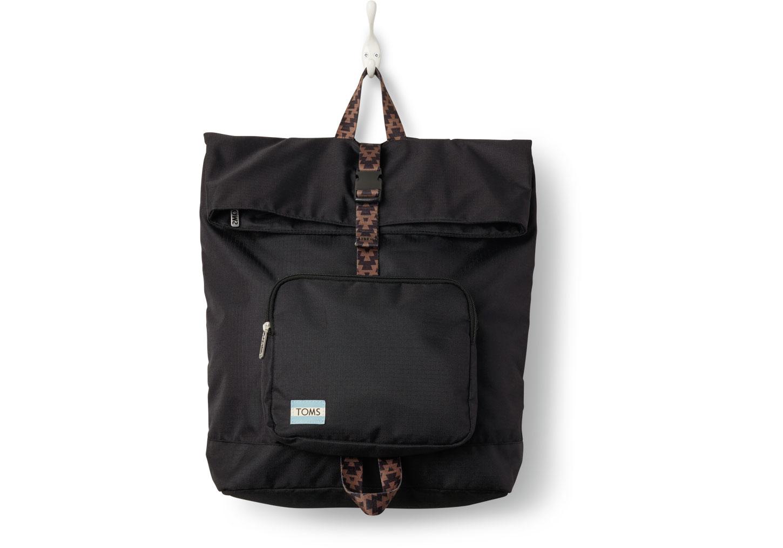 Toms Black Solid Standup Backpack in Black | Lyst