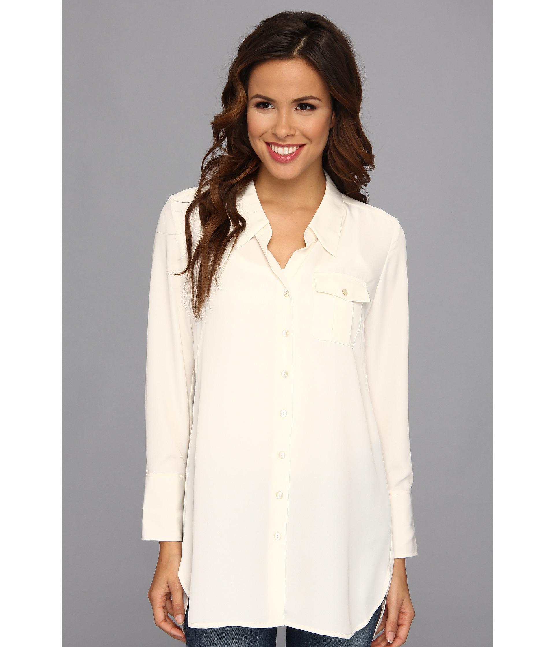 b3258b897 Lyst - NIC+ZOE Cool Mist Shirt in White