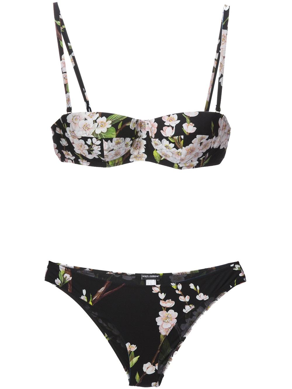 a5abece369 Lyst - Dolce   Gabbana Floral Print Bikini in Black