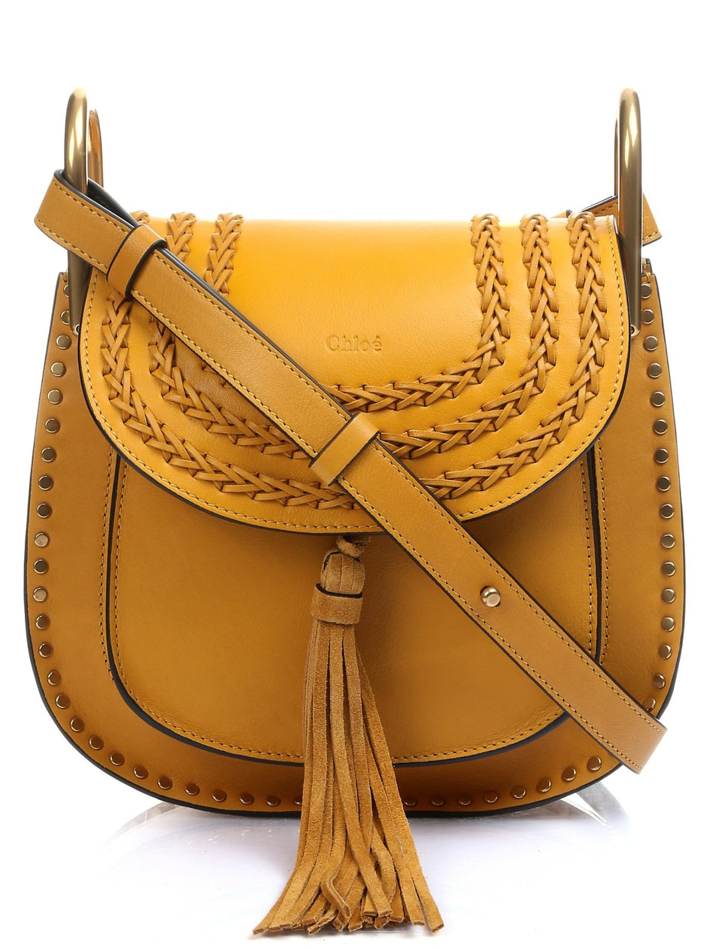ecfda62d819 Chloé Hudson Small Leather Cross-Body Bag in Yellow - Lyst