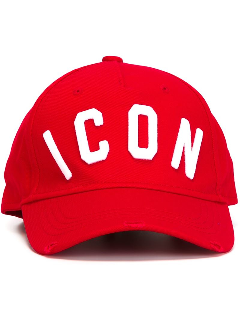 e59d4c418 DSquared² Red Icon Embossed Baseball Cap for men