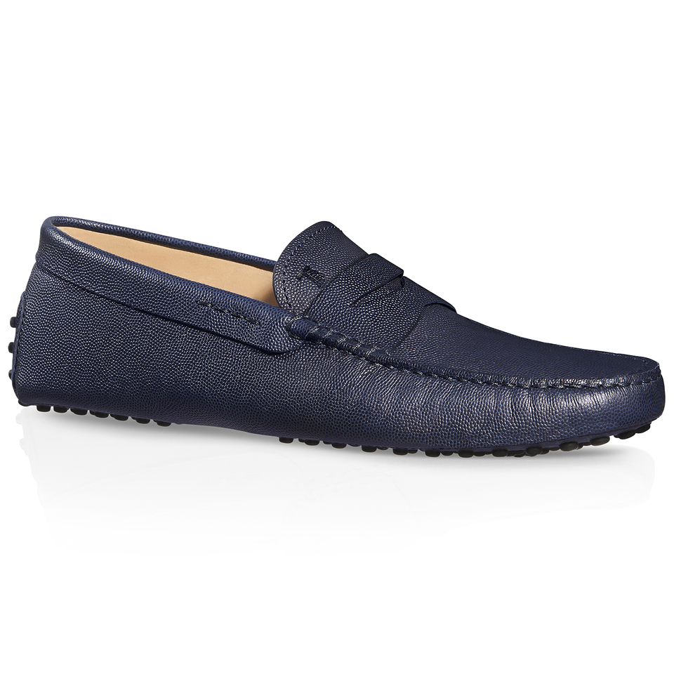 Tod's Gommino Driving Shoes In Leather in Blue for Men | Lyst