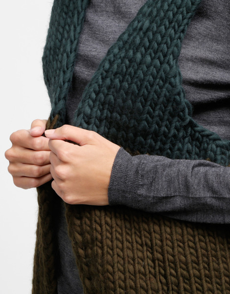 Wool and the gang ice breaker cardigan in green lyst - Gang and the wool ...