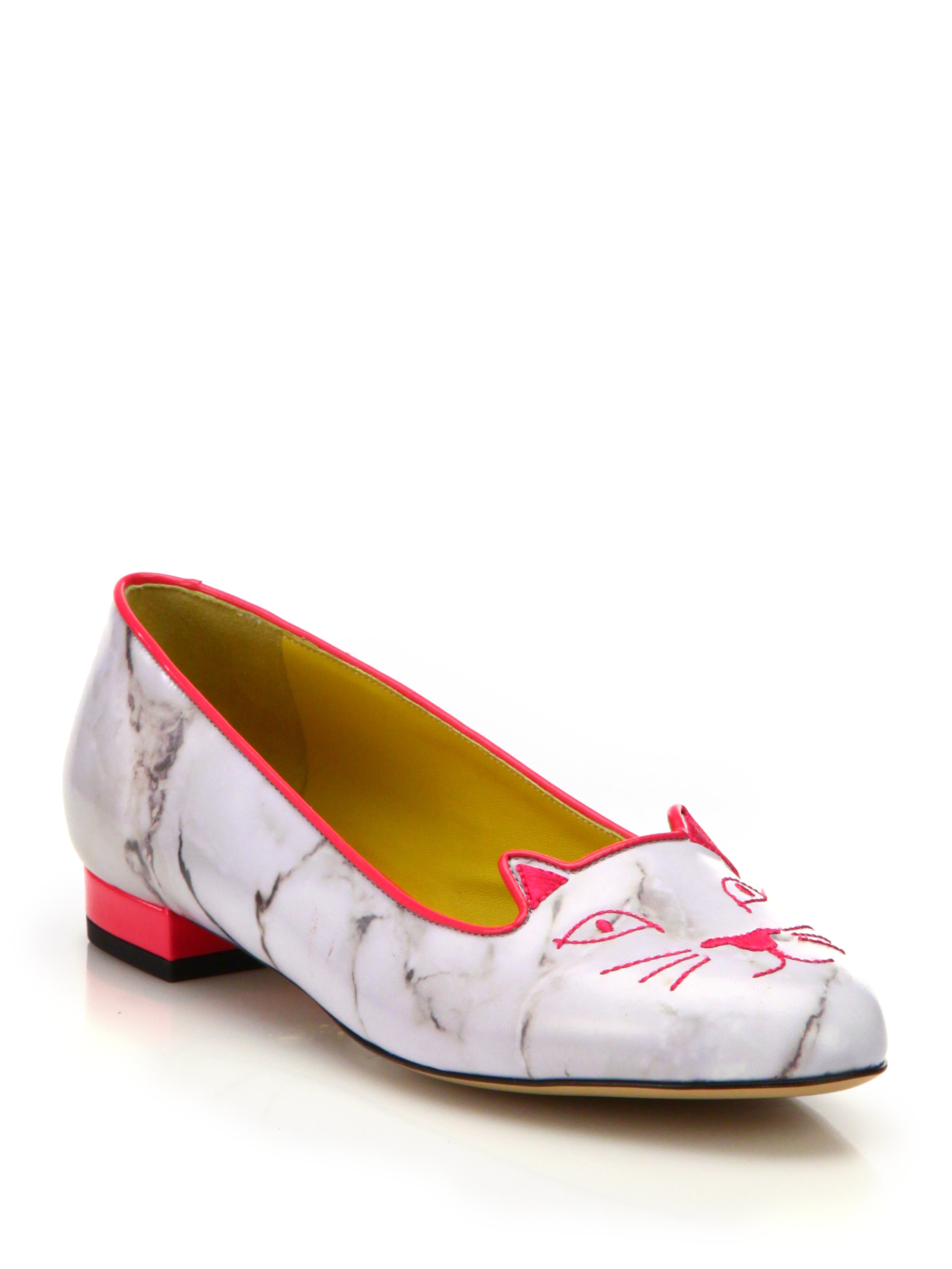 Charlotte Olympia kitten embroided ballerina shoes cheap visit clearance low price fee shipping KYVS1Ukh4