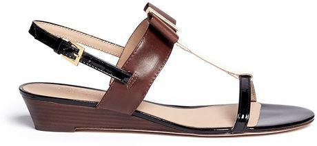 Kate Spade Vinny Leather Wedge Sandals In Brown Neutral