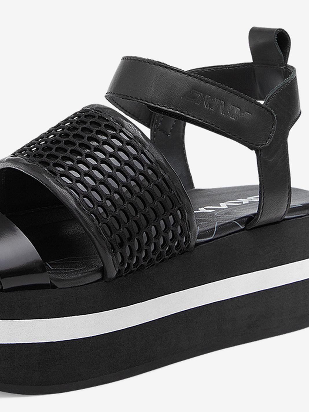 Lyst Dkny Valene Platform Sandals In Black