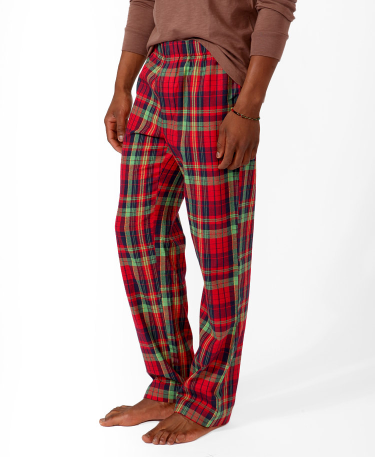 Forever 21 Plaid Pajama Pants In Red For Men Lyst