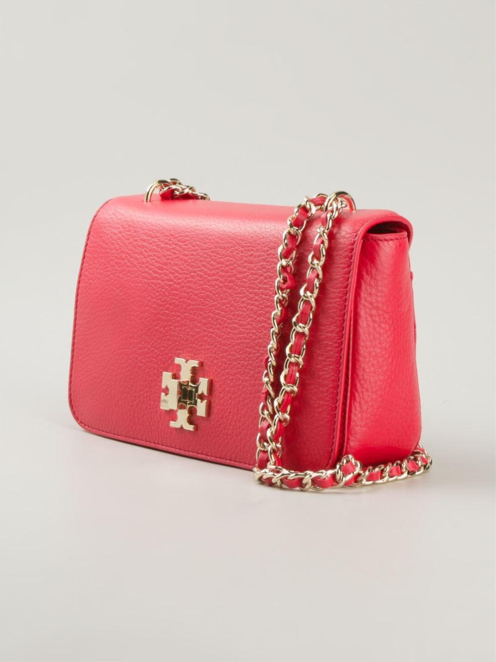 f44d63e68e04 ... handbags 1532d 707ef  clearance lyst tory burch mercer shoulder bag in  red adb93 bed36