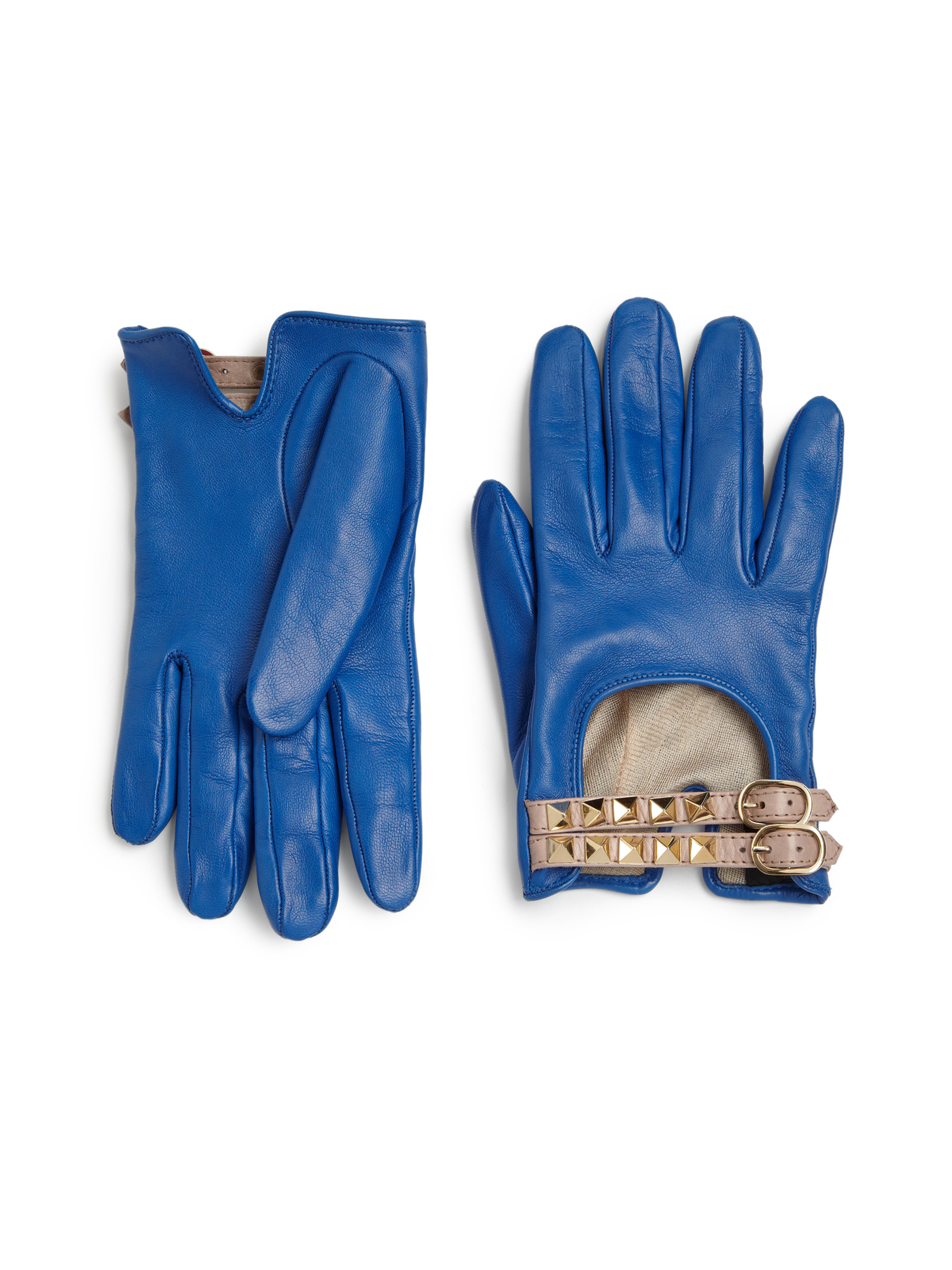 Ladies leather gloves blue - Gallery Previously Sold At Saks Fifth Avenue Women S Leather Gloves