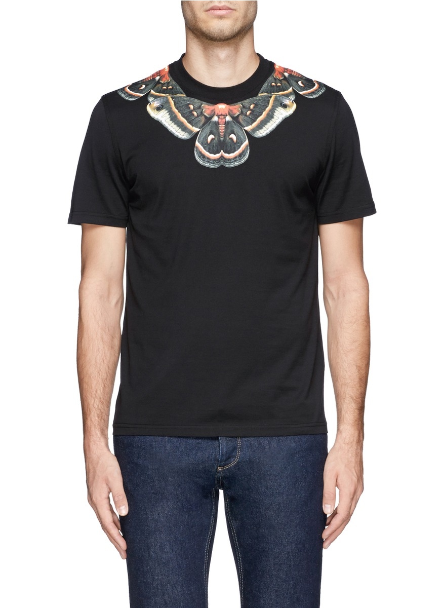 Lyst Givenchy Moth Print T Shirt In Black For Men