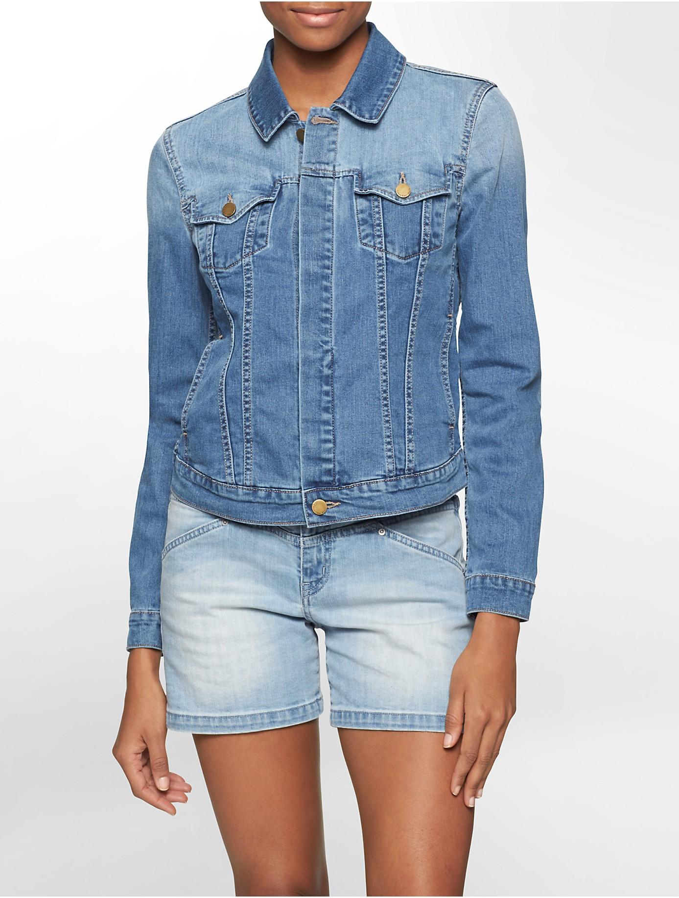Lyst - Calvin Klein Jeans Light Wash Denim Trucker Jacket in Blue